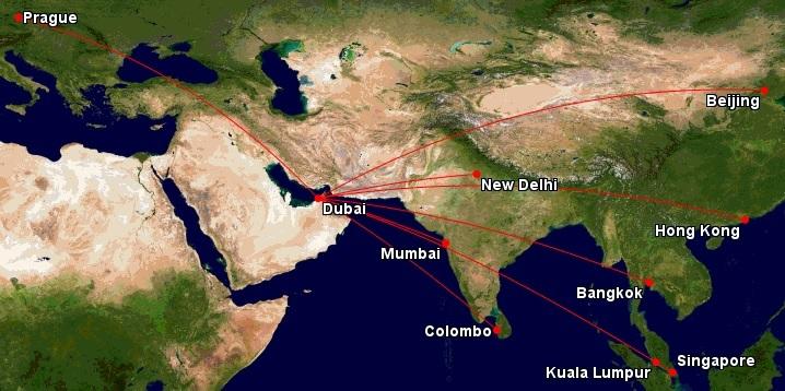 Mapa-asieemirates